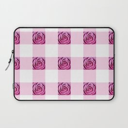 Pink Rose Check Pattern Laptop Sleeve