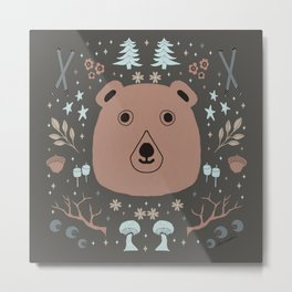 Northwest, Bears, marshmallows, skiing, nuts and trees Metal Print