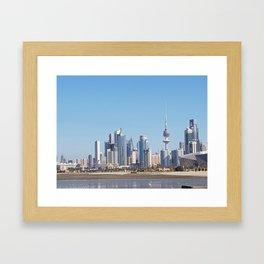 Kuwait city Framed Art Print