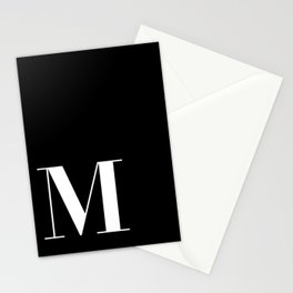 Initial M Stationery Cards