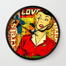 Love is a disease Wall Clock