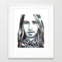 jared leto Framed Art Prints featuring Jared Leto by ShayMacMorran