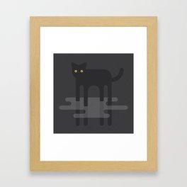Cat in the Mist Framed Art Print