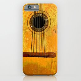 Old Mariachi Guitarron iPhone Case