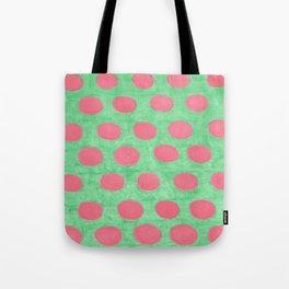 Pink and Green Polka Dots Tote Bag