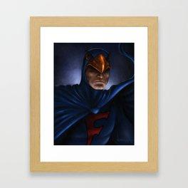 Saturday Morning Hero Framed Art Print