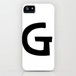 G Monogram (Hand 2) iPhone Case