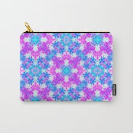 Hand drawn seamless pattern with folk national motives. Bright colored abstract wallpaper. Seamless Carry-All Pouch