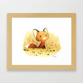 Little fox Framed Art Print