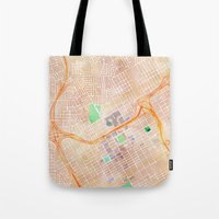 alabama Tote Bags featuring Birmingham, Alabama by Emily Day