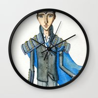 knight Wall Clocks featuring Knight by Eugene Frost