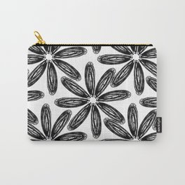 Ballpoint Flower Pattern Carry-All Pouch