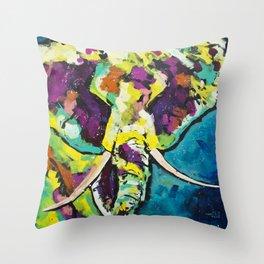 Elmer the Elephant Throw Pillow
