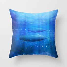Save The Whales by Viviana Gonzalez Throw Pillow