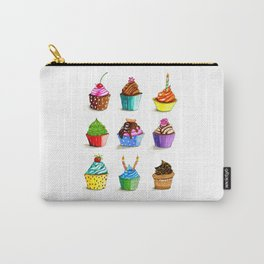 Illustration of tasty cupcakes Carry-All Pouch
