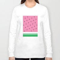 watermelon Long Sleeve T-shirts featuring Watermelon by Anna Lindner