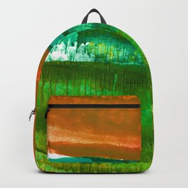 Encaustic Abstract No.27M by Kathy Morton Stanion Backpack