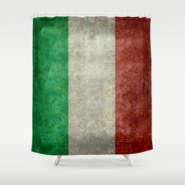 Flag of Italy, Vintage Retro Style Shower Curtain