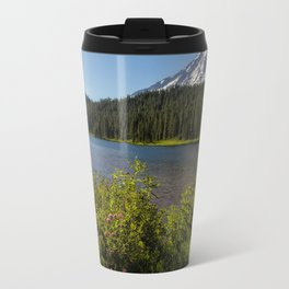 Wildlflower Color by Reflection Lake and Mt Rainier, No. 1 Travel Mug