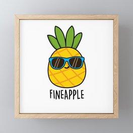 Fine-apple Cute Pineapple Pun Framed Mini Art Print