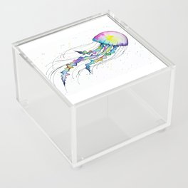 Pastel Jellyfish Acrylic Box