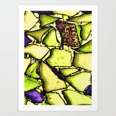 Beach Glass Mosaic 2 Art Print