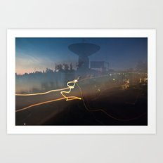 Antenna Flowing Art Print
