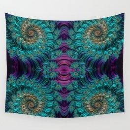 Aqua Swirl 3 Wall Tapestry