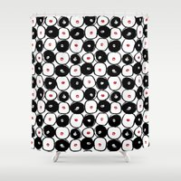 lips Shower Curtains featuring Lips by J Han