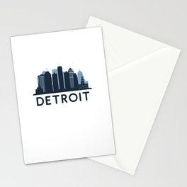 Detroit City Skyscraper Skylines Stationery Cards