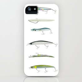 Realistic fishing lures iPhone Case