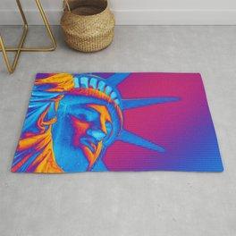 Pop Art Statue of Liberty Rug
