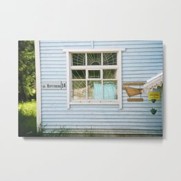 A Village House in Russian Karelia Metal Print