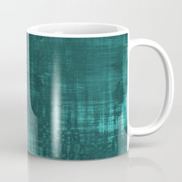 Teal Green Solid Abstract Coffee Mug