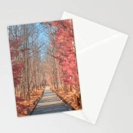Jesup Boardwalk Trail - Tickle Me Pink Stationery Cards