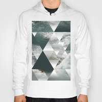 polygon Hoodies featuring Waves polygon by cat&wolf