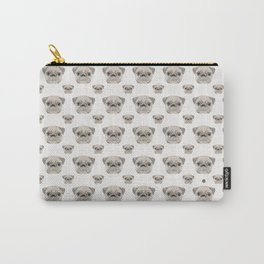 Swirly Pug (color) Carry-All Pouch