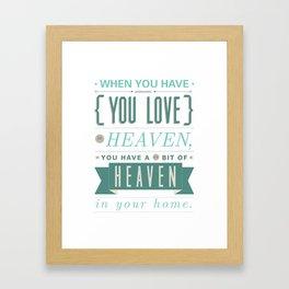 Someone In Heaven-BLUE Framed Art Print