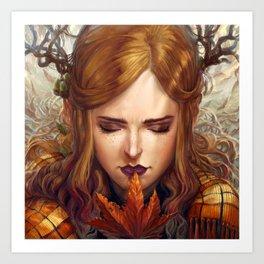 Autumn Girl Art Print