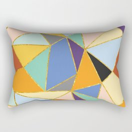 Primary&Gold Rectangular Pillow