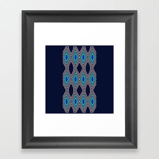 Zebra stripped Framed Art Print