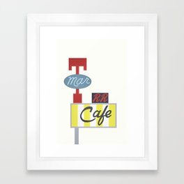 the Double R - Twin Peaks Framed Art Print