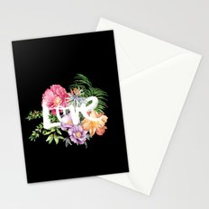 Love is Black Stationery Cards