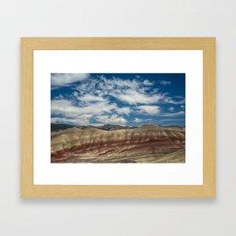 Colorful Painted Hills of Oregon Framed Art Print