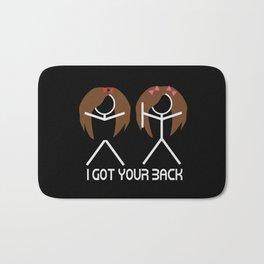 I Got Your Back Brunettes Bath Mat