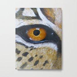 Eye See You Leopard Eye Metal Print