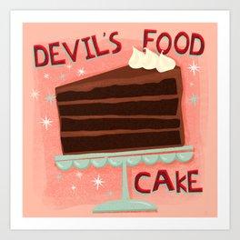 Devil's Food Cake An All American Classic Dessert Art Print