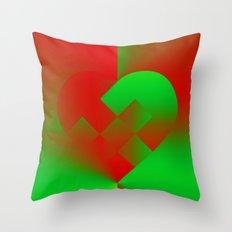 Danish Heart Holidays #61 Throw Pillow