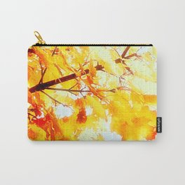 Yellow Maple leaves, Autumn Unfolds Carry-All Pouch