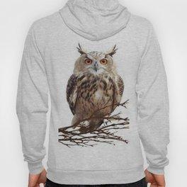 WILDERNESS BROWN OWL IN WHITE Hoody